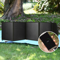 Waterproof 80W Foldable Solar Panel 18V 2 USB Battery Charger For Phone Laptop