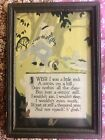 "Vintage LEE MERO Framed MOTTO Print 'I Wish I Was A Little Rock…"" 1920's EUC"