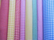 """New! GINGHAM Pink Yellow Green Red 1/4"""" Red 1/8"""" NARROW 50 CM WIDE  Per MT"""