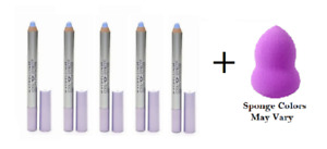 Maybelline Cool Effect Shadow Liner, Lilac Freeze 40 (5 Pack) + Makeup Sponge