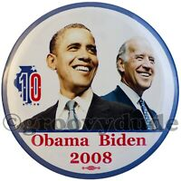 2008 Victory Party Barack Obama Biden Illinois 10th Campaign Pin Button Pinback