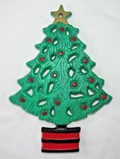 "CHRISTMAS TREE TRIVET from Art Smithy, Painted Metal, 8.5"" x 6"""