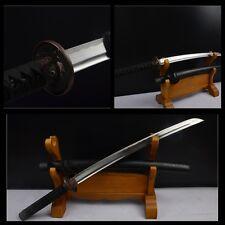 1060 Carbon Steel Japan Samurai Sword Katana Wakizashi  Hand Forge Short Sword