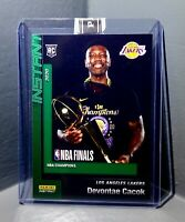 Devontae Cacok 2020 Panini LA Lakers NBA Champions #4 Green Parallel Card 10/10