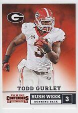 TODD GURLEY 2015 Panini Contenders Draft Picks Rush Week #2 Bulldogs