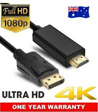 Displayport Display Port DP to HDMI Cable Full HD High Speed Gold Plated 1.8M AU