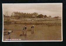 Wales Denbighshire RHOS-ON-SEA children Beach Scene 1938 RP PPC by Salmon #9619