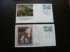 FRANCE - 2 enveloppes 1er jour 1971 (patinage artistique) (cy62) french
