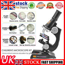 More details for 100x 200x 450x microscope school lab science educational toy gift for kids child