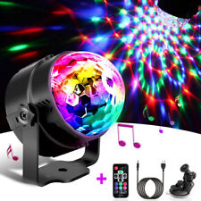 7 Colors USB Disco Party LED Stage Light Speaker Crystal Magic Ball Lamp