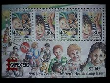 "NEW ZEALAND. 1996. Health Stamps. ""Teddy Bear"".""CAPEX'96"". (REPRODUCTION.)BLOCK."