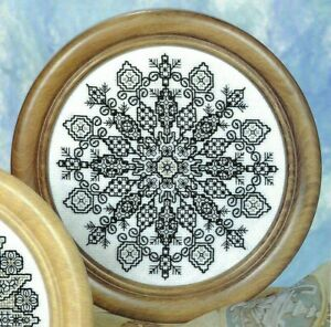Blackwork Embroidery Buddhist Mandala Yoga Meditate Cross Stitch Pattern 2168
