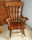 Vintage Large Adult Solid Wooden Ornate Rocking Chair w/ detachable cushions