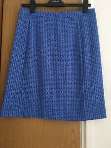 LADIES 'DICKINS & JONES' SKIRT BLUE WITH DOTS SIZE 12