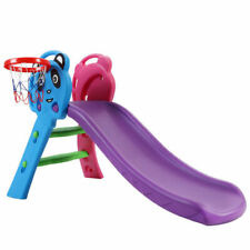 Keezi Kids Slide with Basketball Hoop Outdoor/Indoor Playground Toddler Play