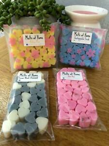 Wax Melts 30x Mini Hearts, Very Highly Scented, Soy Wax, Inspired Fragrances