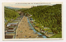 1934 HOT SPRINGS AR ARK HI VIEW SHOWING VIEW IN 1875 POSTCARD PC6543