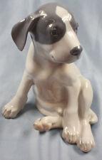 großer Welpe Porzellanfigur hund pointer porzellan figur Royal Copenhagen
