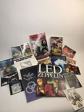 Lot Of Led Zeppelin Memorabilia- Music Books And Other Books Plus Postcards