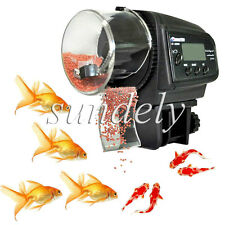 Automatic Auto Aquarium LCD Fish Food Feeder Feeding Timer for Fish Tank AU