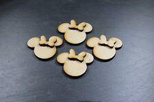3D Disney Minnie Mouse Heads X15 Mini, MDF Blank Shapes Decoration Wooden