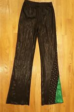 Cheerleader & Danz Team Cheer Pants Pants Women's Medium long shiny metallic CDT