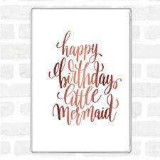 Rose Gold Birthday Mermaid Quote Jumbo Fridge Magnet