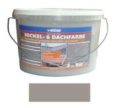 Wilckens Sockel -und Dachfarbe matt Wetterbeständig Steingrau 5 L