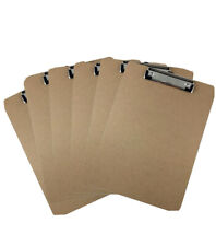 Letter Size Clipboard Low Profile Clip Hardboard (Pack of 6)
