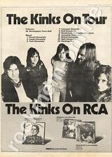 Kinks The Preservation Act 1 Hull University MM4 LP/Tour Advert 1974
