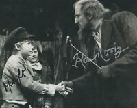 Mark Lester / Ron Moody   **HAND SIGNED**   8x10 photo  ~  AUTOGRAPHED  ~ Oliver