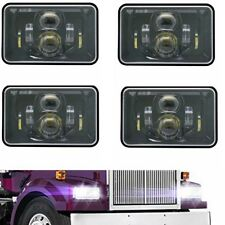 4x DOT Approved 55w 4x6 inch LED Headlights for Peterbit Kenworth Frightliner