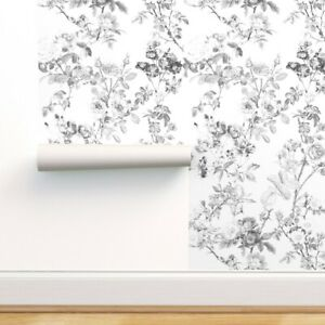 Peel-and-Stick Removable Wallpaper Watercolor Large Botanical Floral English