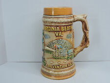 Virginia Beach VA Beer Stein Mug Convention Hall Swordfish Sailboat
