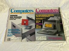 Computers and Electronics Magazines 2 Issues