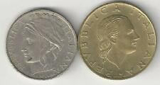 2 DIFFERENT COINS from ITALY - 100 & 200 LIRE (BOTH DATING 1995)