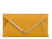 Ladies Glittery Envelope Style Clutch Bag Evening Party Purse Handbag K2870