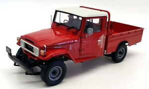 Kyosho 1/18 Scale Diecast 08958R - 1980 Toyota Land Cruiser 40 Pickup - Red