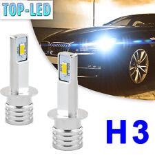 2x H3 LED Headlight Bulbs Kit High Low Beam 80W 12000LM Super Bright 6000K White
