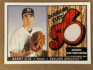 2003 Bowman Heritage Diamond Cuts Red Relics #BZ Barry Zito Uni 30/56 - Oakland
