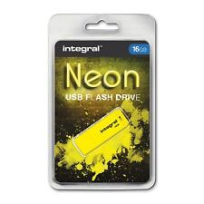 Integral 16GB Neon USB Stick - in Yellow.