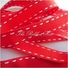 15MM STITCHED EDGE GROSGRAIN RIBBON 13 COLOURS, 2 LENGTHS BY BERISFORDS