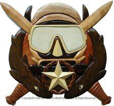 SPECIAL FORCES DIVE SUPERVISOR BADGE - COMBAT DIVER - Handcrafted Wood Plaques