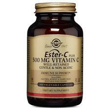 Solgar Ester-C Plus Vitamin C 500 mg 100 Vegetable Capsules FREE Shipping