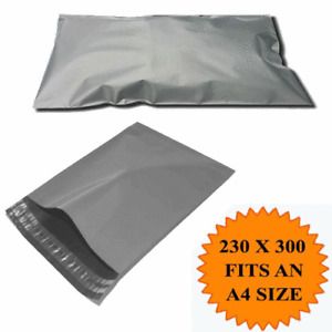 """9X12"""" Strong Mailing Bags A4  Large Letter size Grey Plastic Postage Postal X100"""