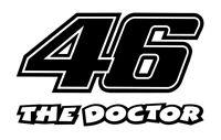 2 x 20cm Startnummer Valentino Rossi 46 THE DOCTOR Aufkleber Moto GP