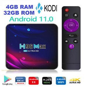H96 MAX v11 Android Box 4GB 32GB (FULLY INSTALLED) Android 11 Smart TV Box 4K