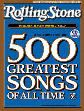 ROLLING STONE-500 GREATEST SONGS OF ALL TIME-FOR CELLO VOL. 2 MUSIC BOOK/CD-NEW!