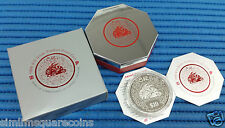 1999 Singapore 2 oz Lunar Year of the Rabbit $10 Silver Piedfort Proof Coin