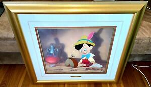 Disney Pinocchio Cel Anytime You Need Me Extremely Rare Animation Edition Cell